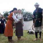 Tērpus demonstrējam arī  Krievijā   Presenting our costumes in  Russia