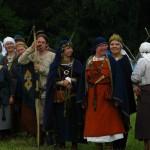 Svētku atklāšana  senajā apmetnē  Opening ceremony  in participants camp