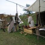 Stendā,  rets brīdis bez apmeklētājiem   Our camp,  rare moment without visitors