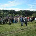 Svētdien bija vairāk kā  45000 apmeklētāju...  There where more than  45000 visitors on Sunday...