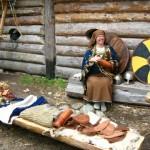 Pie vikingu dzīvojamās mējas