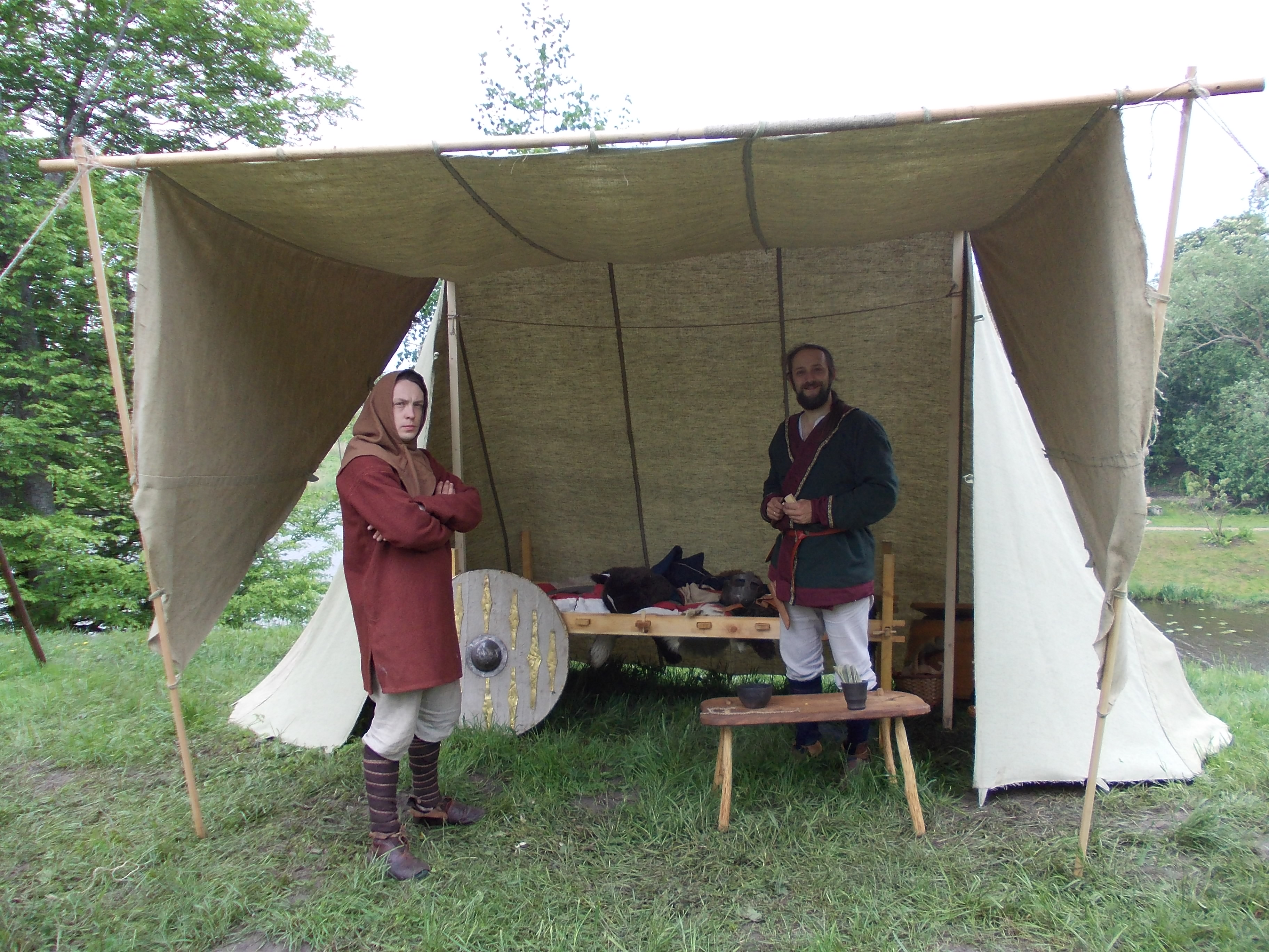 Vendel period tent and bed